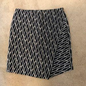Ann Taylor Loft Ikat Faux Wrap Skirt